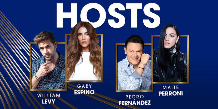 Anfitriones Premios Billboard de la Música Latina 2021